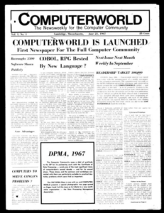 First issue of Computerworld