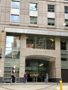 Suffolk University dorm building that served as temporary shelter during COVID pandemic