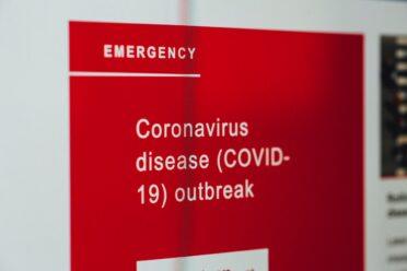 Sign: Emergency Coronavirus disease (COVID-19) outbreak