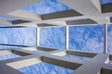 clouds through a window