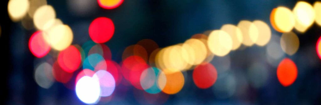 blurry colorful lights